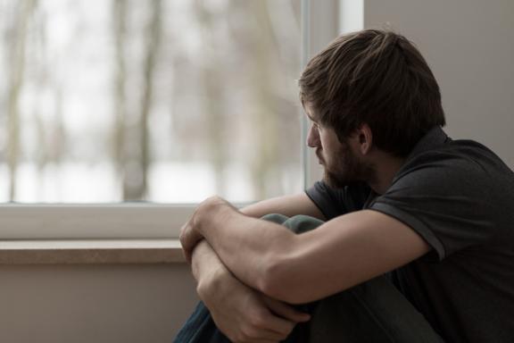تصویر یک مرد دارای افسردگی